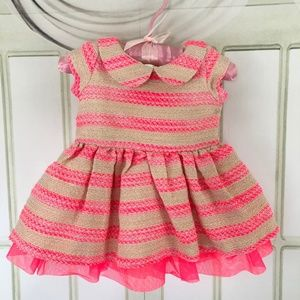 The Children's Place Girls Dress Lined Sz 0-3 mos